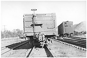&quot;B&quot; end view of D&amp;RGW high-side gondola #1108 at Salida.  A standard gauge boxcar is in the background.<br /> D&amp;RGW  Salida, CO  Taken by Maxwell, John W. - 9/25/1949