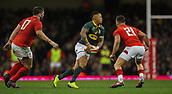 2nd December 2017, Principality Stadium, Cardiff, Wales; Autumn International Rugby Series, Wales versus South Africa; Elton Jantjies of South Africa in action during the match