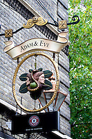 Adam and Eve Pub in St James, London, United Kingdom