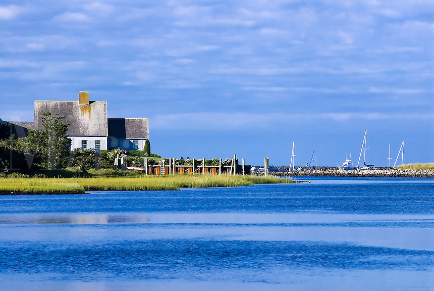 Beach house at the mouth of  Saquatucket Harbor, Harwich, Cape Cod, MA