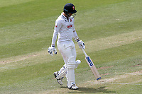 Jamie Porter of Essex leaves the field having been dismissed for 0 during Essex CCC vs Nottinghamshire CCC, Specsavers County Championship Division 1 Cricket at The Cloudfm County Ground on 23rd June 2018