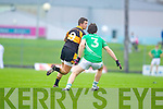 Shane Carroll Austin Stacks in action against Padraig Reidy Saint Kierans in the Quarter Finals of the County Championship at Austin Stack Park on Sunday.