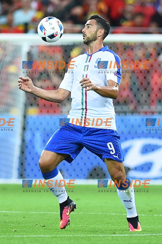 Graziano Pelle' Italy <br /> Lyon 13-06-2016 Grand Stade de Lyon Football Euro2016 Belgium-Italy / Belgio-Italia Group Stage Group E. Foto Massimo Insabato / Insidefoto