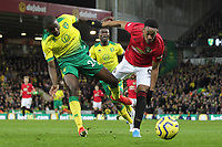 Anthony Martial of Manchester United is challenged by Ibrahim Amadou of Norwich City during the Premier League match between Norwich City and Manchester United at Carrow Road on October 27th 2019 in Norwich, England. (Photo by Matt Bradshaw/phcimages.com)<br /> Foto PHC/Insidefoto <br /> ITALY ONLY