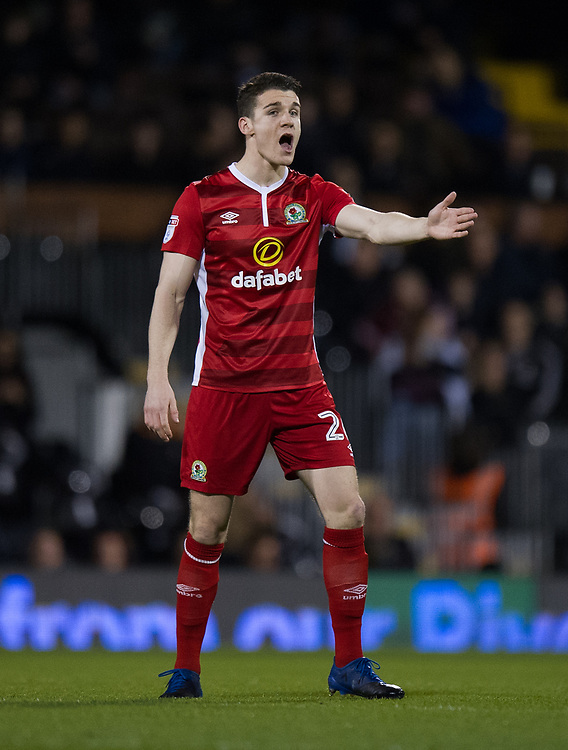 Blackburn Rovers' Darragh Lenihan in action during todays match  <br /> <br /> Photographer /Ashley WesternCameraSport<br /> <br /> The EFL Sky Bet Championship - Fulham v Blackburn Rovers - Tuesday 14th March 2017 - Craven Cottage - London<br /> <br /> World Copyright &copy; 2017 CameraSport. All rights reserved. 43 Linden Ave. Countesthorpe. Leicester. England. LE8 5PG - Tel: +44 (0) 116 277 4147 - admin@camerasport.com - www.camerasport.com