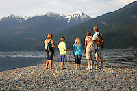 On the beach at Kaslo, British Columbia. Cover photo for Columbia Basin Trust Annual Report. 2010