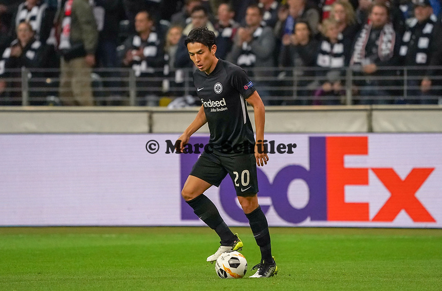 Makoto Hasebe (Eintracht Frankfurt) - 24.10.2019:  Eintracht Frankfurt vs. Standard Lüttich, UEFA Europa League, Gruppenphase, Commerzbank Arena<br /> DISCLAIMER: DFL regulations prohibit any use of photographs as image sequences and/or quasi-video.