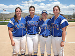 The 2015 Western Nevada Wildcats graduating sophomores, from left, Lauren Lesniak, Pamela Sakuma, Katilyn Covione and Nicole Lesniak at Edmonds Sports Complex Carson City, Nev., on Saturday, May 2, 2015.<br />