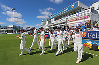 The Essex players take to the field during Essex CCC vs West Indies, Tourist Match Cricket at The Cloudfm County Ground on 1st August 2017