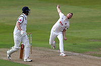 Jamie Porter of Essex in bowling action during Warwickshire CCC vs Essex CCC, Specsavers County Championship Division 1 Cricket at Edgbaston Stadium on 10th September 2019