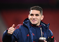 27th January 2020; Vitality Stadium, Bournemouth, Dorset, England; English FA Cup Football, Bournemouth Athletic versus Arsenal; Lucas Torreira of Arsenal arrives at Vitatilty Stadium
