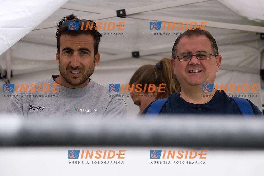 Fabrizio Antonelli e Massimo Giuliani<br /> 25  km donne<br /> Omegna, Lago D'Orta<br /> FIN 2016 Campionato Italiano Assoluto Nuoto di Fondo <br /> <br /> Day 05 14-06-2016<br /> Photo Laura Binda/Deepbluemedia/Insidefoto