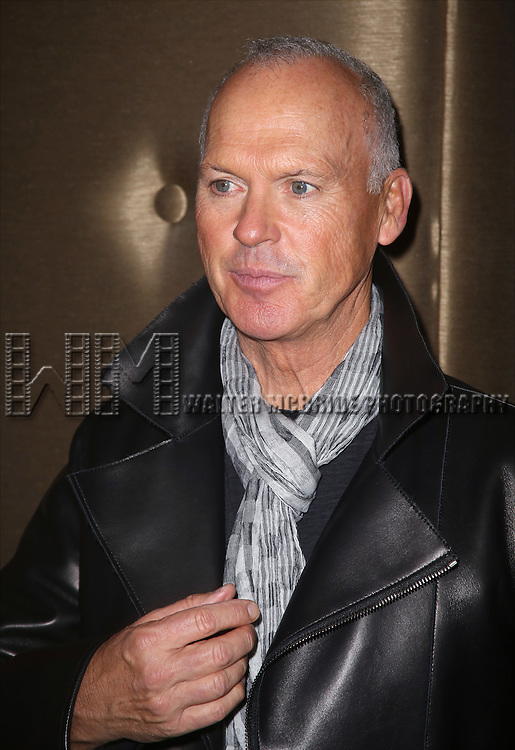 Michael Keaton attends the Broadway Industry Screening of 'Birdman' at Dolby 88 on October 13, 2014 in New York City.
