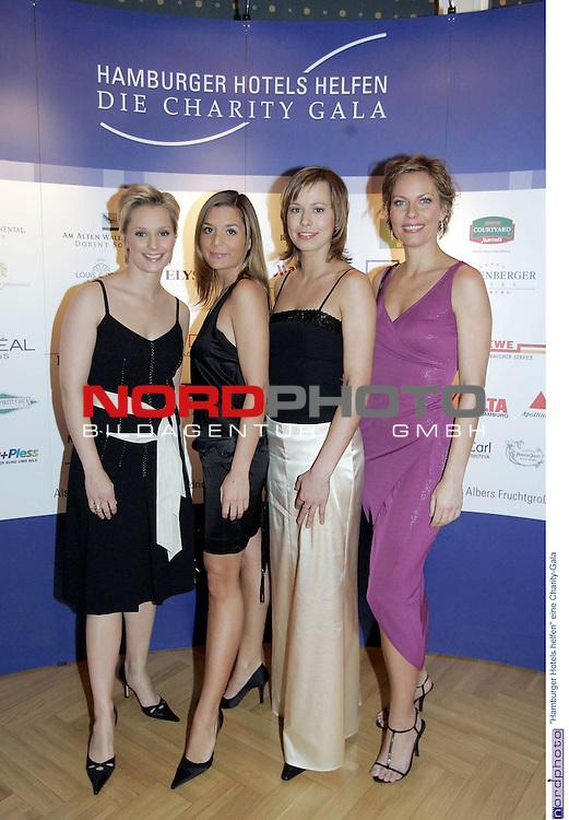 &quot;Hamburger Hotels helfen&quot; eine Charity-Gala im Kempinski Hotel Atlantic Hamburg<br /> <br /> Kristina Luedke (LŁdke), Julia Klein, Janine Steeger und Kim Hoehne (HŲhne) auf dem roten Teppich<br /> <br /> Foto &copy; nordphoto / Anja Heinemann<br /> <br />  *** Local Caption *** Foto ist honorarpflichtig! zzgl. gesetzl. MwSt.<br />  Belegexemplar erforderlich<br /> Adresse: nordphoto<br /> Georg-Reinke-Strasse 1<br /> 49377 Vechta