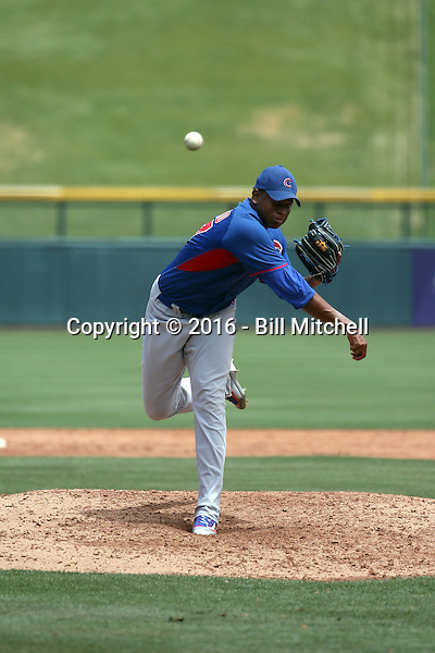 Erling Moreno - Chicago Cubs 2016 extended spring training (Bill Mitchell)
