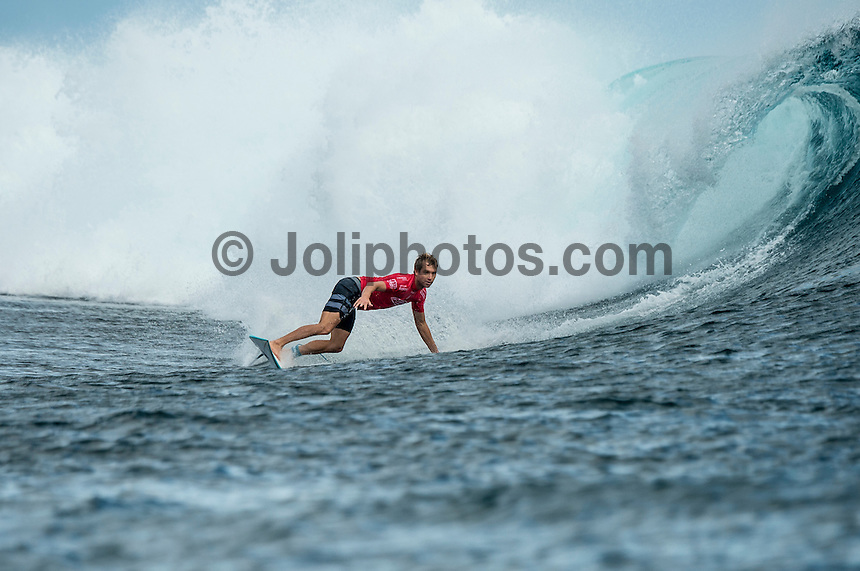 Namotu Island Resort, Nadi, Fiji (Monday, June 6 2016): Adrian Buchan (AUS) - The Fiji Pro, stop No. 5 of 11 on the 2016  WSL Championship Tour, witnessed heated head-to-head match-ups as the world's best surfers fought through elimination Round 2 in four-to-six foot (1 - 2 metre) waves at Cloudbreak. Round Two was completed with the new longer period swell from the West slowly dropping during the day. Photo: joliphotos.com