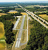 Aerial view of Oldmans Airport and  route 295 Pedricktown, NJ
