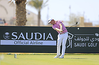 Justin Harding (RSA) on the 10th tee during the final round of  the Saudi International powered by Softbank Investment Advisers, Royal Greens G&CC, King Abdullah Economic City,  Saudi Arabia. 02/02/2020<br /> Picture: Golffile | Fran Caffrey<br /> <br /> <br /> All photo usage must carry mandatory copyright credit (© Golffile | Fran Caffrey)