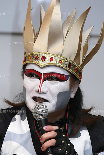May 10, 2010 - Tokyo, Japan - Demon Kogure, lead singer of the heavy metal Japanese band Seikima-II, answers journalists' questions during a press conference in Tokyo on May 10, 2010. Japanese traditional actors, actress and musicians will be performing at Expo 2010 Shanghai between June 12-16. 255 countries and international organizations have confirmed their participation at Expo 2010 and some 70 million visitors are expected to attend in the six months before it closes on Oct. 31.