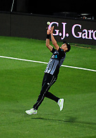 NZ's Trent Boult catches Dawid Malan during the International Twenty20 cricket match between the NZ Black Caps and England at Westpac Stadium in Wellington, New Zealand on Tuesday, 13 February 2018. Photo: Dave Lintott / lintottphoto.co.nz