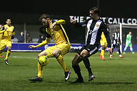 Bradley Warner of Hornchurch and Lewis Dark of Heybridge during Heybridge Swifts vs AFC Hornchurch, Bostik League Division 1 North Football at Scraley Road on 9th January 2018