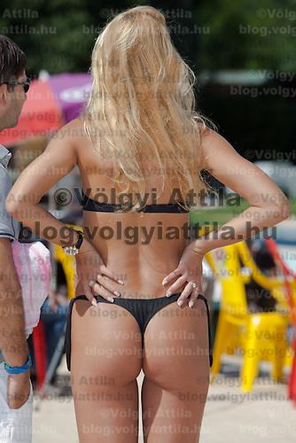 Bettina Patai participates the Miss Bikini Hungary beauty contest held in Budapest, Hungary on August 29, 2010. ATTILA VOLGYI