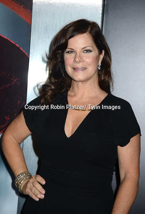 Marcia Gay Harden attends the World Premiere of &quot;Man of Steel&quot; on June 10, 2013 at Alice Tully Hall in New York. The movie stars <br /> Henry Cavill, Amy Adams, Michael Shannon, Kevin Costner, Laurence Fishburne, Anje Traue, Ayelet Zurer, Christopher Meloni, Russell Crowe, Dylan Sprayberry, Michael Kelly,  Cooper Timberline, Christina Wren and Rebecca Buller.