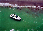 Pleasure fun boat anchored on Sanibel Island & Captiva Island, florida