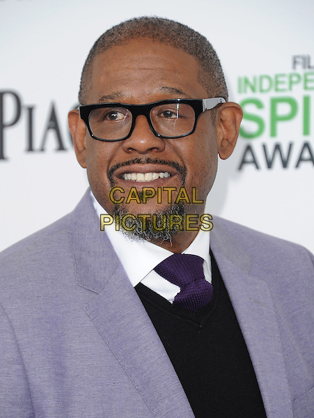 SANTA MONICA, CA, MARCH 01: Forest Whitaker at The 2014 Film Independent Spirit Awards held at Santa Monica Beach in Santa Monica, California, USA on March 1st, 2014.                                                                              <br /> CAP/DVS<br /> &copy;Debbie VanStory/Capital Pictures
