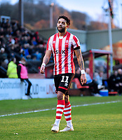 Lincoln City's Bruno Andrade<br /> <br /> Photographer Andrew Vaughan/CameraSport<br /> <br /> The Emirates FA Cup Second Round - Lincoln City v Carlisle United - Saturday 1st December 2018 - Sincil Bank - Lincoln<br />  <br /> World Copyright © 2018 CameraSport. All rights reserved. 43 Linden Ave. Countesthorpe. Leicester. England. LE8 5PG - Tel: +44 (0) 116 277 4147 - admin@camerasport.com - www.camerasport.com