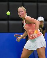 December 189 2014, Rotterdam, Topsport Centrum, Lotto NK Tennis, Kelly Versteeg (NED)<br /> Photo: Tennisimages/Henk Koster