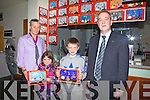 Winners of the AIB Halloween Coloring competition pictured here receiving their prizes on Friday last were l-r; Kathryn Johnson(AIB Cahersiveen), Jane O'Connor, Austin Murphy & John Fleming(Manager AIB Caherisveen).