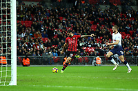 Charlie Austin of Southampton scores the first Saints goal during Tottenham Hotspur vs Southampton, Premier League Football at Wembley Stadium on 5th December 2018