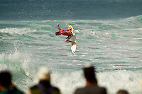 """LA GRAVIERE, Hossegor/France (Tuesday, October 11, 2011) Taj Burrow (AUS). – Clean three-to-four foot (1 metre) lefts and rights are on offer this morning at La Graviere, prompting Quiksilver Pro France organizers to call competition back on with Round 4 commencing at 8:15am...Stop No. 8 of 11 on the 2011 ASP World Title season, the Quiksilver Pro France looks to get through Rounds 4 and 5 as well as the Quarterfinals this morning before the high tide fills in...""""Conditions look very contestable this morning and we'll be commencing with men's competition at 8:15am,"""" Rich Porta, ASP International Head Judge, said. """"We're in a race against the high tide today so we're hoping to complete 12 heats of competition before it becomes unmanageable. That said, we'll monitor the conditions throughout the morning and adjust the schedule accordingly.""""..Heat one was stopped after 14 minutes because of fog and the contest was put on hold for the next four hours waiting for the fog to lift..Round four was completed and one heat of Round five before the contest was put back on hold because of the high tide conditions. Photo: joliphotos.com"""