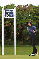 Linn Grant (SWE) on the 18th tee during the Matchplay Semi-Final of the Women's Amateur Championship at Royal County Down Golf Club in Newcastle Co. Down on Saturday 15th June 2019.<br /> Picture:  Thos Caffrey / www.golffile.ie
