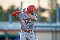 Clearwater Threshers Alec Bohm (40) at bat during a Florida State League game against the Dunedin Blue Jays on May 11, 2019 at Jack Russell Memorial Stadium in Clearwater, Florida.  Clearwater defeated Dunedin 9-3.  (Mike Janes/Four Seam Images)