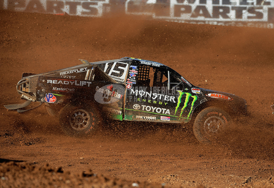 Apr 17, 2011; Surprise, AZ USA; LOORRS driver Marty Hart (15) during round 4 at Speedworld Off Road Park. Mandatory Credit: Mark J. Rebilas-