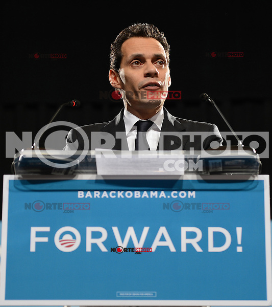 MIAMI FL - NOVEMBER 1 : Marc Anthony remarks at a Grassroots campaign event at The James L. Knight Center on November 1, 2012, in Miami Florida.  Credit: mpi04/MediaPunch Inc. .<br /> ©NortePhoto