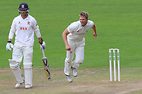 Timm van der Gugten in bowling action for Glamorgan during Glamorgan CCC vs Essex CCC, Specsavers County Championship Division 2 Cricket at the SSE SWALEC Stadium on 23rd May 2016