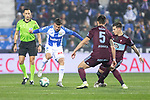 CD Leganes's  Roque Mesa (L) and RC Celta de Vigo's Okay Yokuslu and Lukas Olaza during La Liga match 2019/2020 round 16<br /> December 8, 2019. <br /> (ALTERPHOTOS/David Jar)
