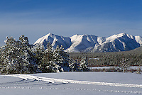 The Nemiah (Nemaiah) Valley and the Coast Mountains in the Cariboo Chilcotin Region, British Columbia, Canada, in Winter
