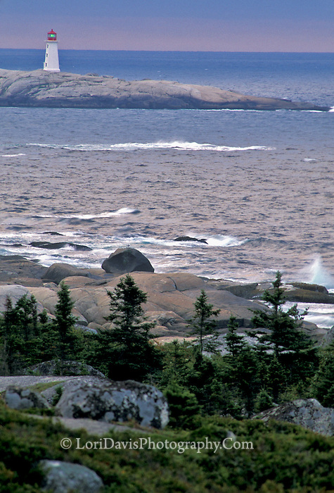 Dawn at Peggy's Cove Lighthouse, Nova Scotia  #LH3