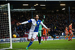 Blackburn Rovers 3 Shrewsbury Town 1, 14/01/2018. Ewood Park, League One. Home forward Danny Graham celebrating his side's second goal during the second-half as Blackburn Rovers played Shrewsbury Town in a Sky Bet League One fixture at Ewood Park. Both team were in the top three in the division at the start of the game. Blackburn won the match by 3 goals to 1, watched by a crowd of 13,579. Photo by Colin McPherson.