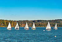Small vessel sailing lessons, Castine, Maine, ME, USA