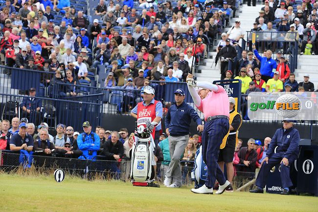 Graeme McDOWELL (NIR) tees off the 17th tee during Monday's Final Round of the 144th Open Championship, St Andrews Old Course, St Andrews, Fife, Scotland. 20/07/2015.<br /> Picture Eoin Clarke, www.golffile.ie