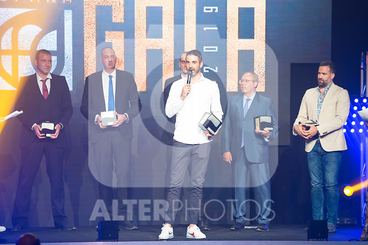 Former Player Juan Carlos Navarro (c) during the first edition of Spanish Basketball Awards. July 25, 2019. (ALTERPHOTOS/Francis Gonzalez)