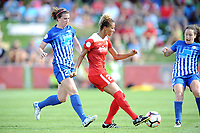 Boyds, MD - Saturday August 12, 2017: Morgan Andrews, Estelle Johnson, Allysha Chapman during a regular season National Women's Soccer League (NWSL) match between the Washington Spirit and The Boston Breakers at Maureen Hendricks Field, Maryland SoccerPlex.