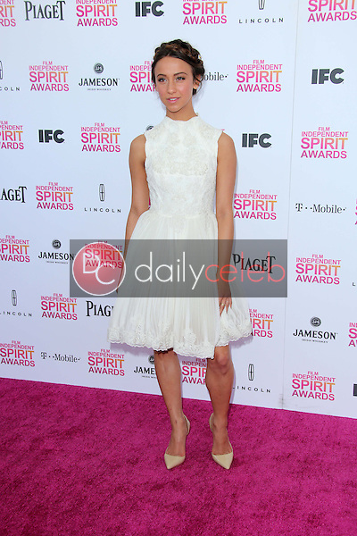 Stella Maeve<br /> at the 2013 Film Independent Spirit Awards, Private Location, Santa Monica, CA 02-23-13<br /> David Edwards/DailyCeleb.com 818-249-4998