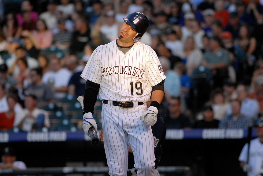06 June 2008: Rockies outfielder Ryan Spilborghs during a regular season game between the Milwaukee Brewers and the Colorado Rockies at Coors Field in Denver, Colorado.*****For editorial use only*****