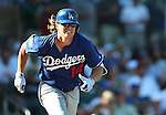 Los Angeles Dodgers&rsquo; Kike Hernandez runs the bases in spring training game in Scottsdale, Ariz., on Friday, March 18, 2016. <br />Photo by Cathleen Allison